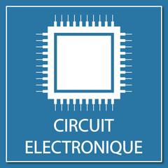 Logo circuit électronique.