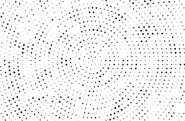 Abstract futuristic halftone pattern. Comic background. Dotted backdrop with circles, dots, small large scale.