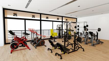 Geräte für Krafttraining im Fitnesscenter