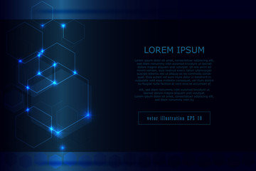 pattern design and light blue stars abstract tech innovation background as technology and future concept ,vector graphics
