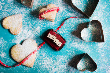 Baking valentine's cookies