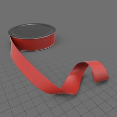 Spool of red ribbon