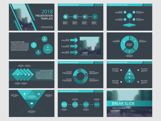 Blue Abstract presentation templates, Infographic elements template flat design set for business proposal brochure flyer leaflet marketing advertising banner template