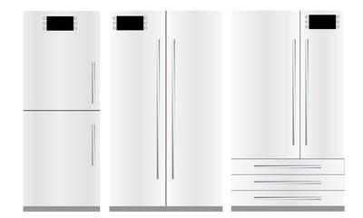 Set of three refrigerators