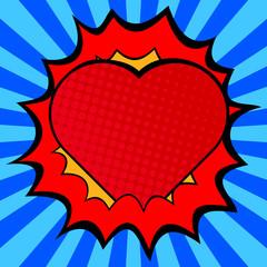 Pop art heart.