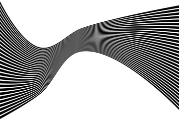 Black and white mobius wave stripe. Vector illustration.