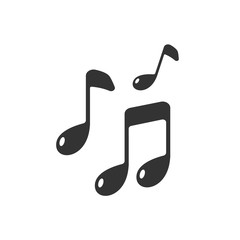 Music note icon iolted on white background. Music logo. Vector stock.