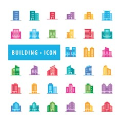 Wall Mural - Building icons set, Urban icon building, icons modern design style