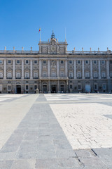 Royal Palace in Madrid - External view