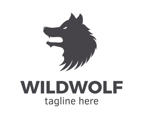 Wild Wolf Logotype. Vector design template easily editable.