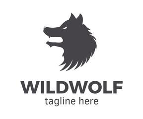 Wild Wolf Logotype. Vector design template easily editable.