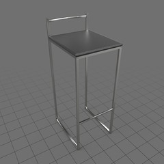 Modern square bar stool