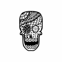 Vector illustration of an decorated Skull
