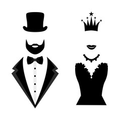 Gentleman and lady icon