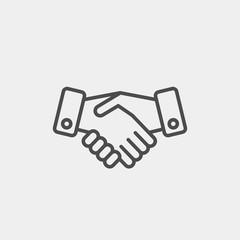 Handshake flat vector icon