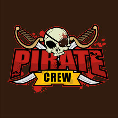 Pirate Crew Logo Design Template