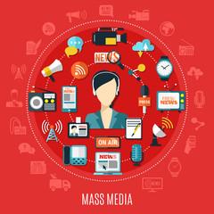 Mass Media Round Design Concept