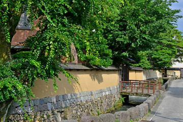 Kanazawa, Japan - august 3 2017 : Nagamachi samourai house district