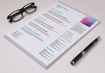 Resume Layout Set with Blue and Gray Accents 1