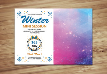 Photography Studio Winter Mini Session Flyer 1