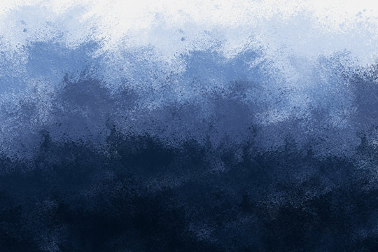 Abstract Blue Background that Resembles a Landscape with Gradient Colors from Light to Dark