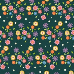 Floral Flowers Wallpaper Seamless Pattern Background