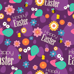 Easter and Spring Wallpaper Seamless Pattern Background