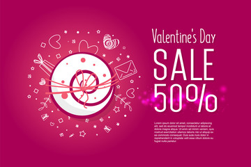 Valentine's day sale 50 percent