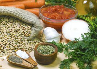 organic ingredient for healthy soups