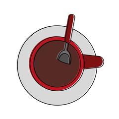 Drink coffee cup icon vector illustration graphic design
