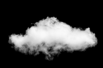 Black sky and single with cloud isolated on black background