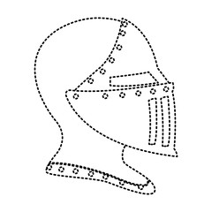 Medieval warrior helmet icon vector illustration graphic design