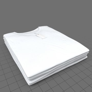 Stack of v-neck shirts with tags (mens)