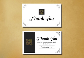 Filigree and Embellished Corners Thank You Card Layout 1