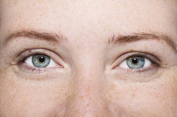 A beautiful insightful look girl's eyes. Close up shot