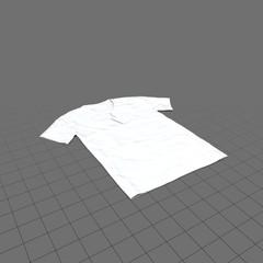 Flat v-neck shirt with tag (mens)