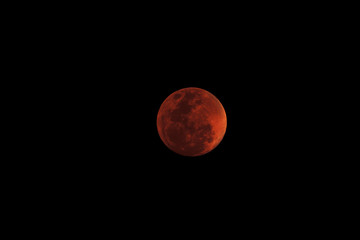 Super Blue Blood Moon total lunar eclipses The Moon with Penumbral eclipse phenomenon on in Asia at Bangkok, Thailand