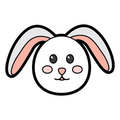 rabbit or bunny icon image vector illustration design