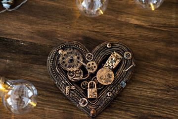 Valentine's Day! Love in the style of Steam punk. Mechanical heart.