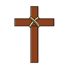 cross christian catholic paraphernalia  icon image vector illustration design