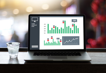 Business Man Sales Increase Revenue Shares and Customer Marketing Sales Dashboard Graphics Concept