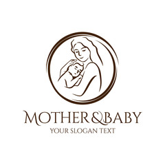 baby and mother logo