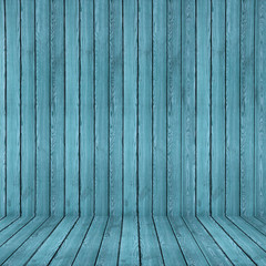 Wood texture background. blue wood wall and floor
