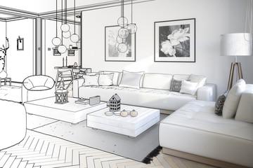 Raumgestaltung: Sitzgarnitur (Entwurf)