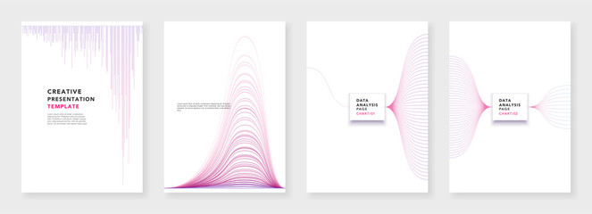 Minimal brochure templates. Infographic elements on white background. Technology sci-fi concept, abstract vector design. Templates for flyer, leaflet, brochure, report, presentation, advertising