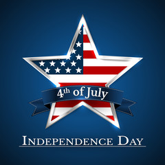 U.S.A INDEPENDENCE DAY VECTOR ILLUSTRATION