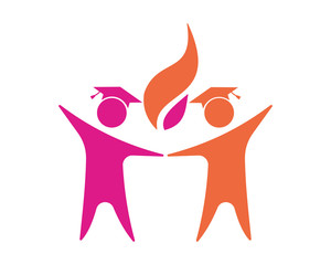 academic figure image vector icon logo symbol