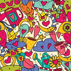 Cute love seamless pattern.