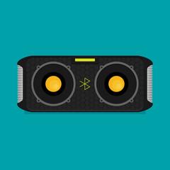 Flat vector bluetooth speakers