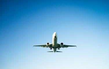 passenger plane taking off composition